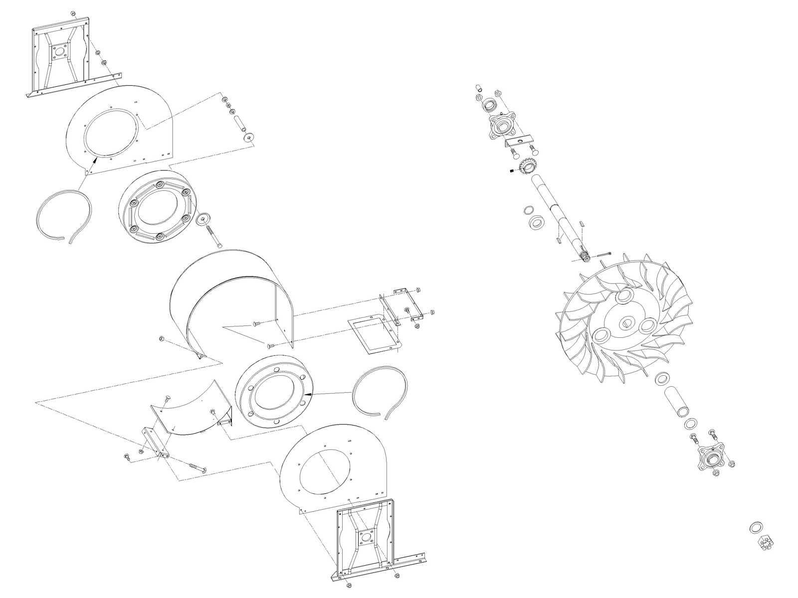 Air System: John Deere 4 Row Fan Assembly AN193785 (07440) for Sale