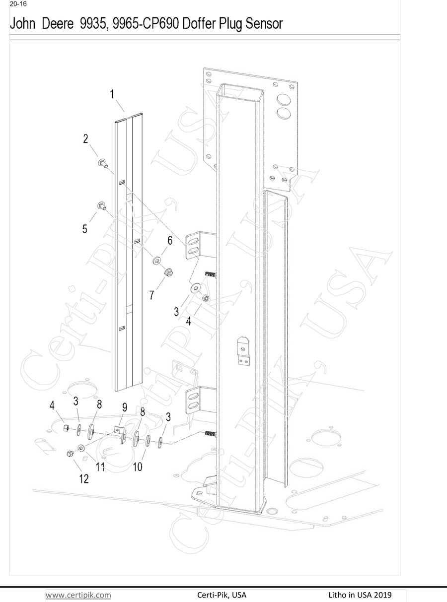 John Deere 9935, 9965-CP690 Doffer Plug Sensor