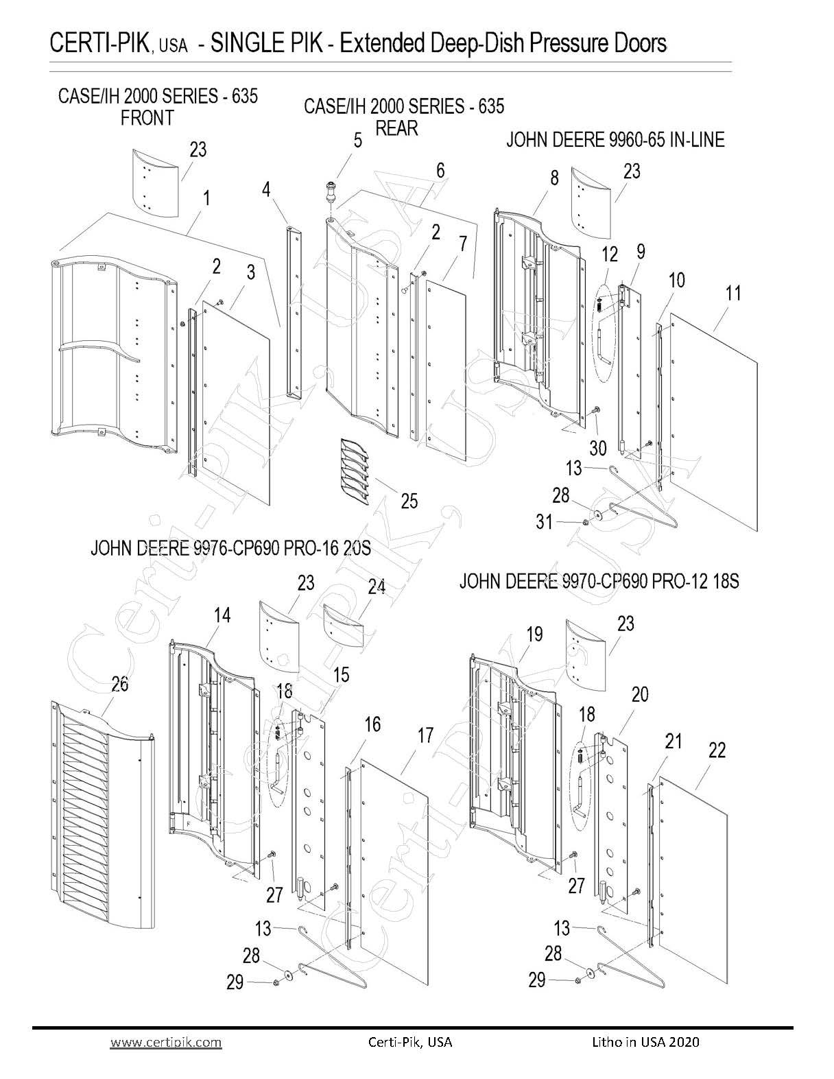 1p1 Extended Deep Dish Pressure Doors Page 1
