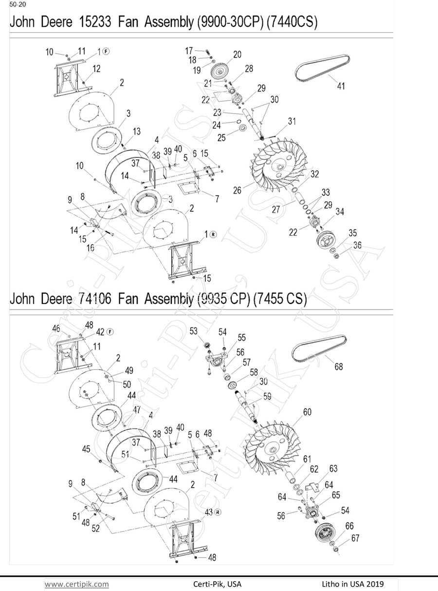 John Deere 2 Row Fan Assembly