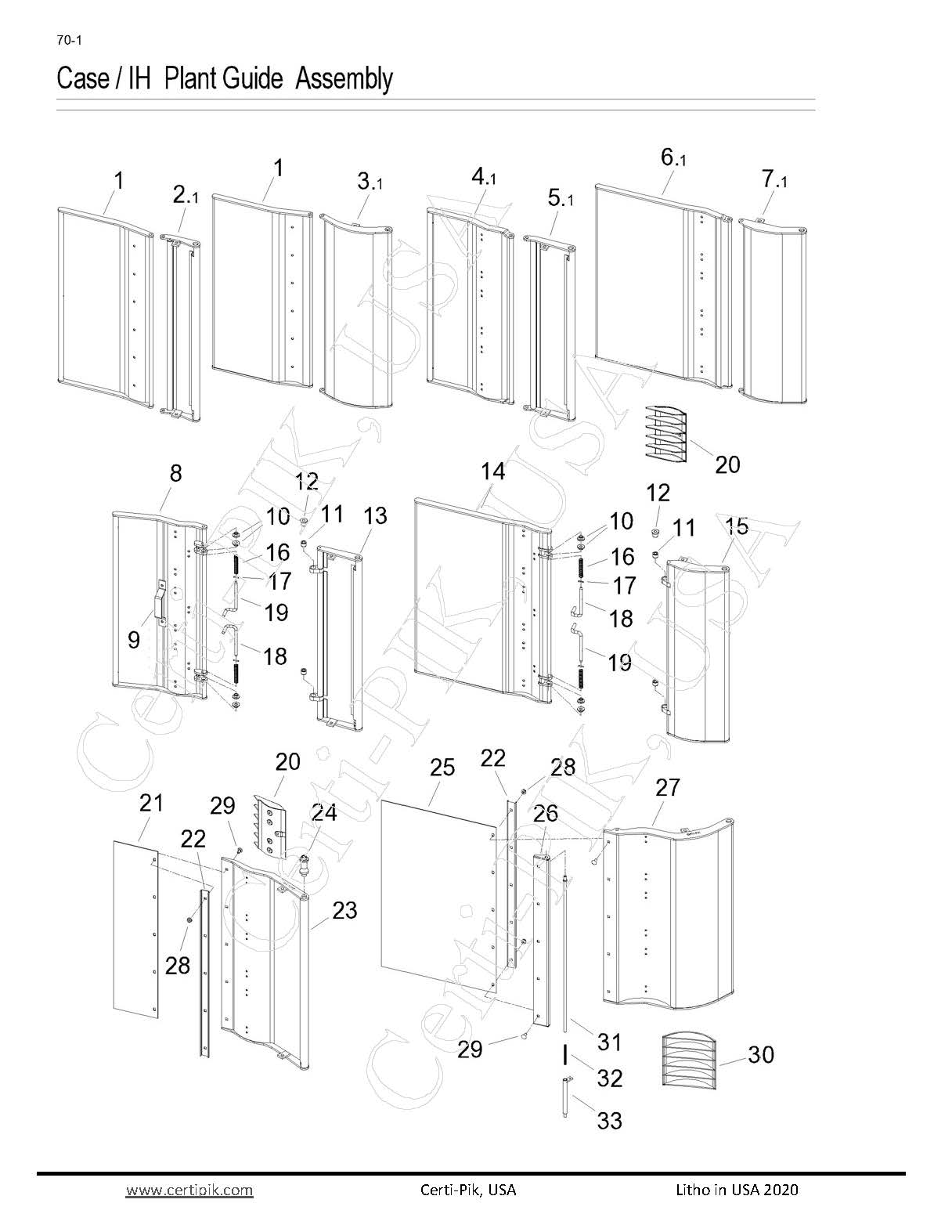 Case /IH Plant Guide Assembly- 1822-635 Mod Exp