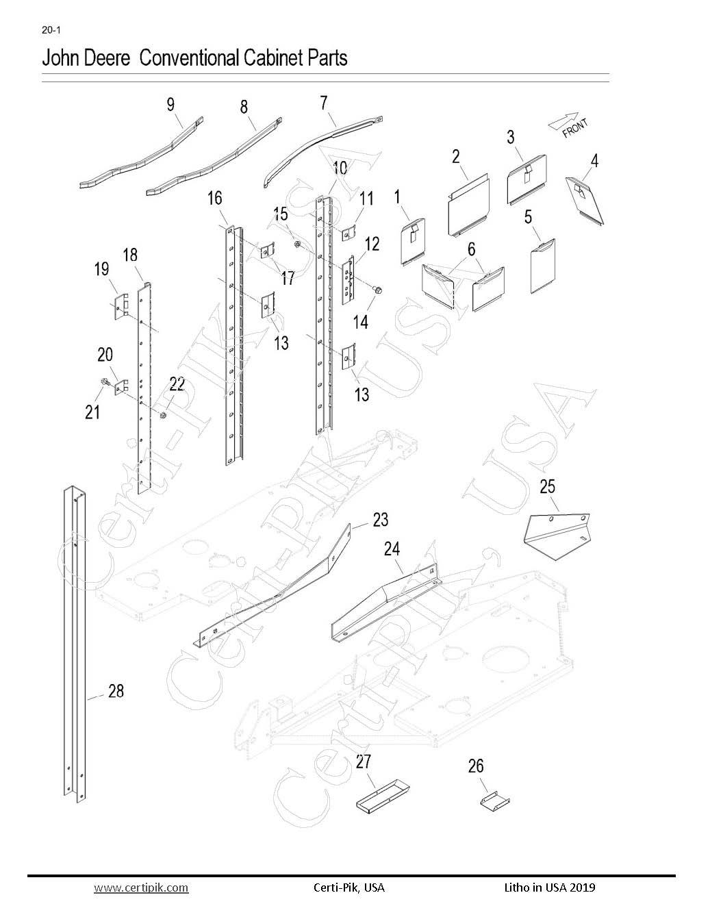 John Deere Conventional, Cabinet Parts