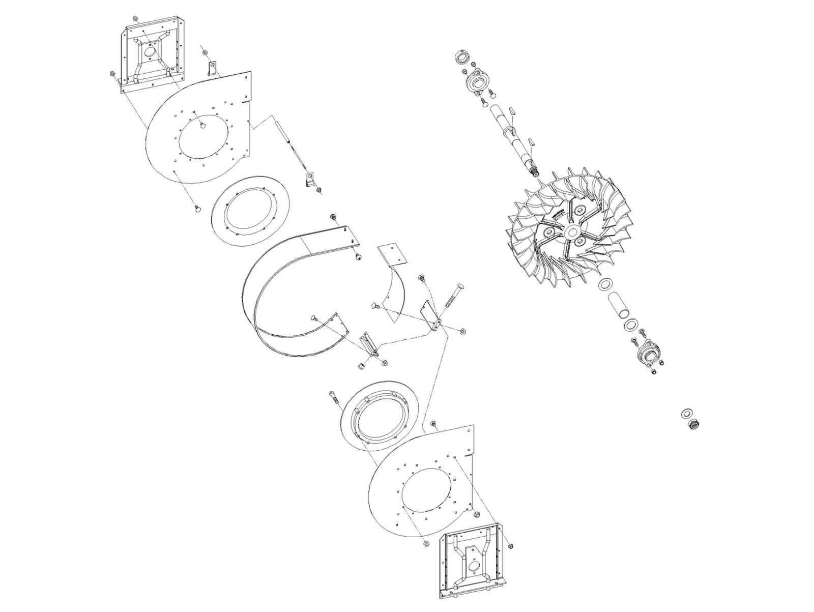 Case /IH Front Fan Assembly, 1822-2555 (S.N.499)