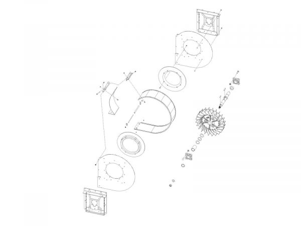 Air System: Case / IH Front Fan Assembly