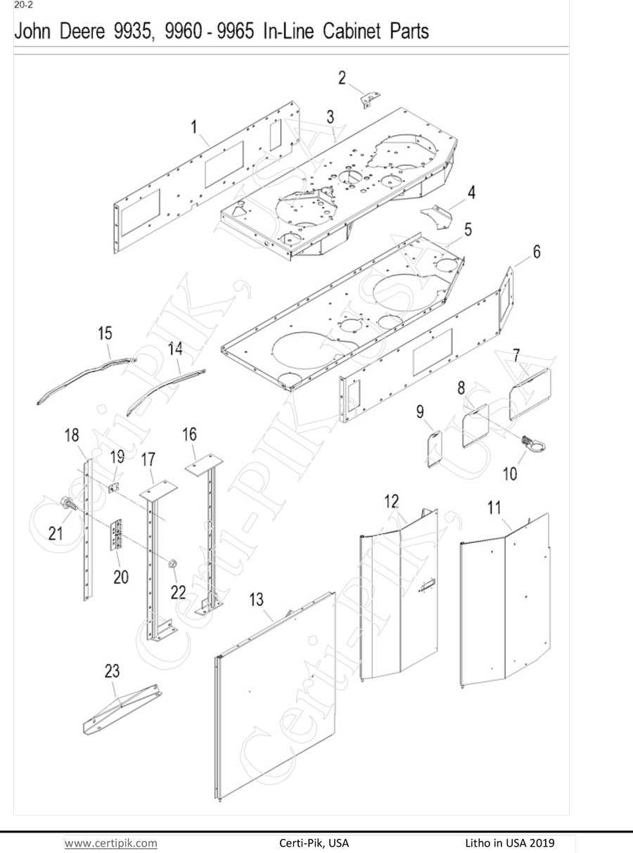 John Deere  9935, 9960-9965 In-Line Cabinet Parts