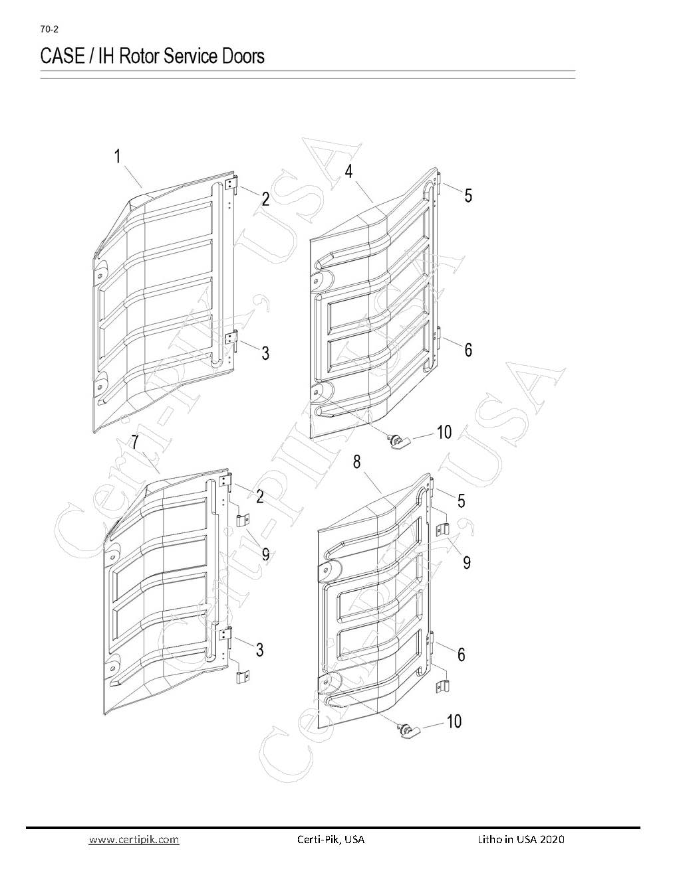 Case / IH Rotor Service Doors