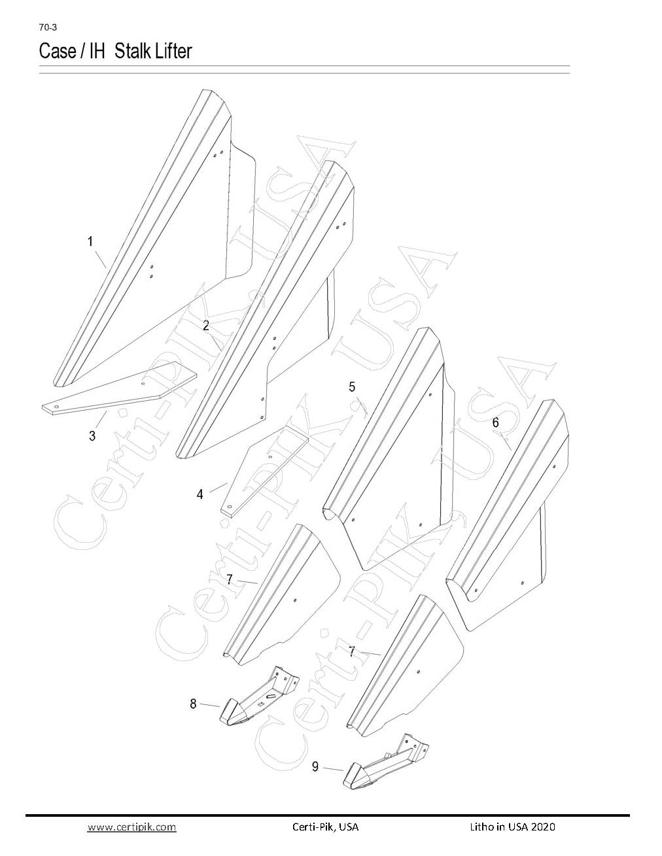 Case / IH Stalk Lifter