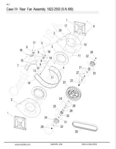 Case /IH Rear Fan Assembly, 1822-2555 (S.N.499)