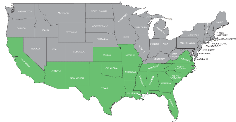 Cotton States Map